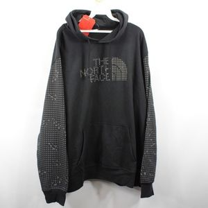 New The North Face Spell Out Hoodie Sweatshirt 2XL
